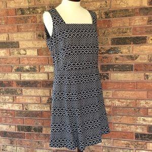 Brooks Brothers 12 Blue White Print Dress Pockets